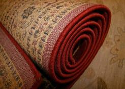 Area rug serging